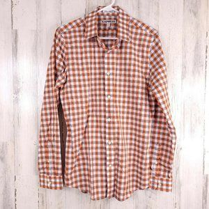 Express Extra Slim Fit Button Down Shirt Men Check